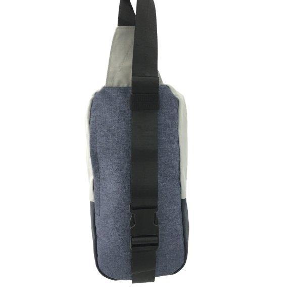 BP WORLD กระเป๋าคาดอก รุ่น B022 สี ดำ/ฟ้า/เทา