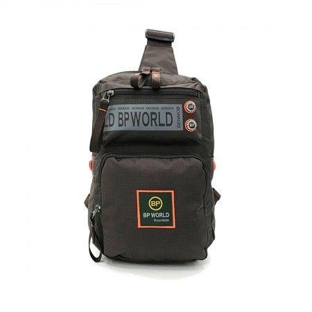 BP WORLD กระเป๋าสะพายคาดอก รุ่น B5938 (สีน้ำตาล)