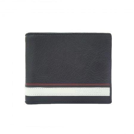 กระเป๋าธนบัตร หนังแท้ รุ่น WL18-02 (สีดำ)