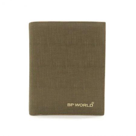 BP WORLD กระเป๋าธนบัตรหนังแท้ รุ่น BN2726 (สีกากี)