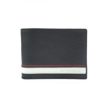 กระเป๋าธนบัตร หนังแท้ รุ่น WL18-01 (สีดำ)