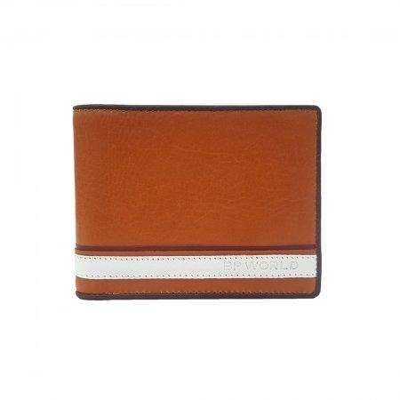 กระเป๋าธนบัตร หนังแท้ รุ่น WL18-01 (สีน้ำตาล)