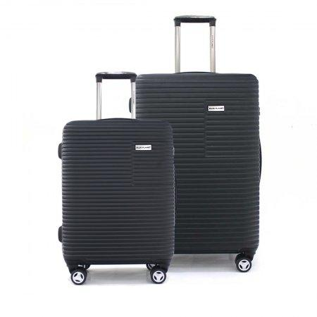 BLUE PLANET เซ็ทกระเป๋าเดินทาง รุ่น 147 ขนาด 29 นิ้ว และ 20 นิ้ว (สีดำ)