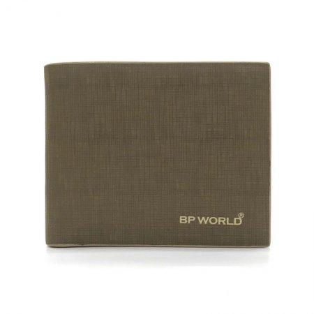 BP WORLD กระเป๋าธนบัตรหนังแท้ รุ่น BN1726 (สีกากี)
