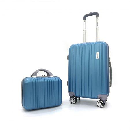 BLUE PLANET เซ็ทกระเป๋าเดินทาง รุ่น 2514 ขนาด 13 นิ้ว และ 20 นิ้ว (สีฟ้า)