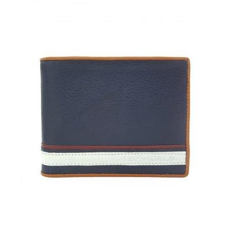 กระเป๋าธนบัตร หนังแท้ รุ่น WL18-01 (สีกรม)