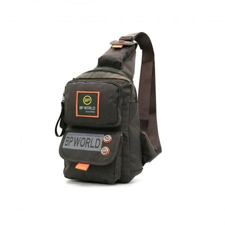 BP WORLD กระเป๋าสะพายคาดอก รุ่น B6299 (สีน้ำตาล)