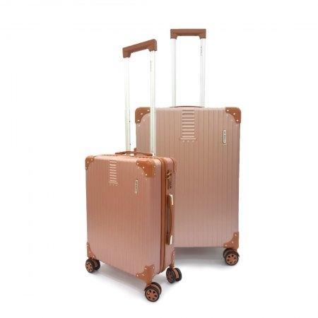 เซ็ทกระเป๋าเดินทาง BP WORLD รุ่น 7705 ขนาด 25 นิ้ว และ 20 นิ้ว (สี Rose Gold)