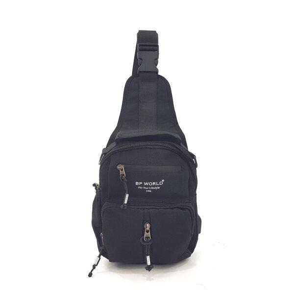 BP WORLD กระเป๋าสะพายไหล่ คาดอก รุ่น B10691 มีให้เลือก2สี สีดำ,สีน้ำเงิน