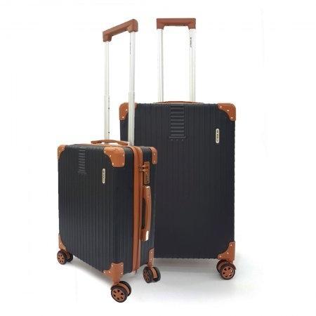 เซ็ทกระเป๋าเดินทาง BP WORLD รุ่น 7705 ขนาด 25 นิ้ว และ 20 นิ้ว (สีดำ)