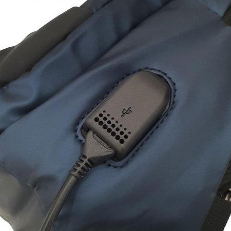BP World กระเป๋าคาดอก รุ่น C1038 (สีน้ำเงิน)