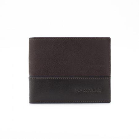 กระเป๋าธนบัตร หนังแท้ Two-Tone รุ่น WL17-06 (สีน้ำตาล)
