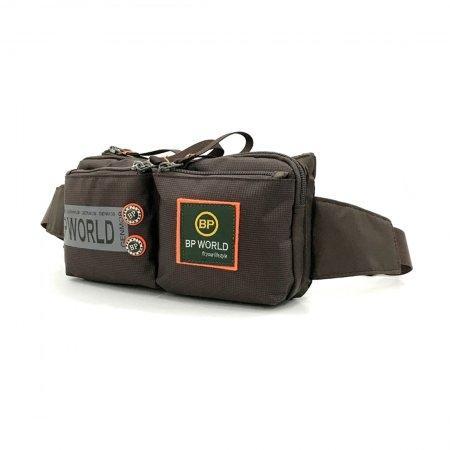 BP WORLD กระเป๋าคาดเอว รุ่น C6331 (สีน้ำตาล)