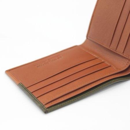 กระเป๋าธนบัตร หนังแท้ Two-Tone รุ่น WL17-06 (สีเขียว-แทน)