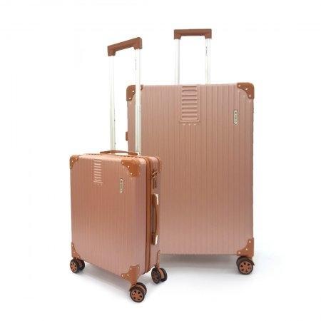 เซ็ทกระเป๋าเดินทาง BP WORLD รุ่น 7705 ขนาด 29 นิ้ว และ 20 นิ้ว (สี Rose Gold)