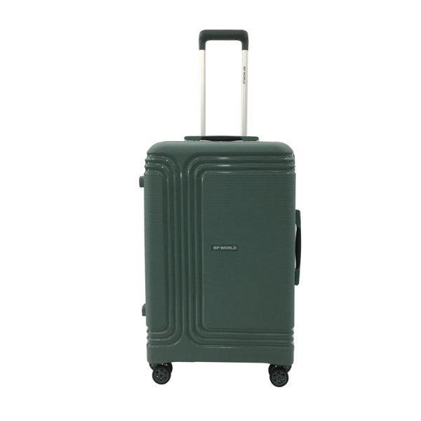 BP WORLD กระเป๋าเดินทาง รุ่น8375 ขนาด25 นิ้ว สี ดำ/เขียว/ชมพู