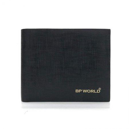 BP WORLD กระเป๋าธนบัตรหนังแท้ รุ่น BN1838 (สีดำ)