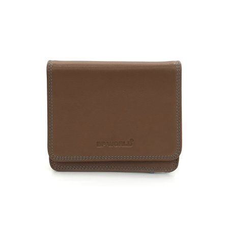 BP WORLD กระเป๋าธนบัตร หนังแท้ รุ่น BN2537 (สีน้ำตาล)