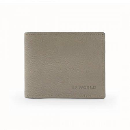 กระเป๋าธนบัตร หนังแท้ รุ่น WL17-08 (สีกากี)