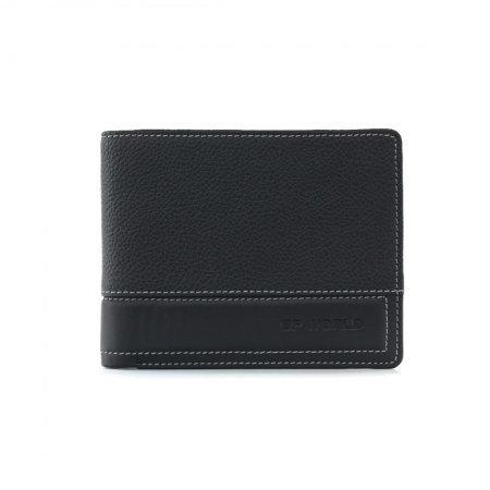 กระเป๋าธนบัตร หนังแท้ รุ่น WL17-02 (สีดำ)