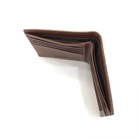 BP WORLD กระเป๋าธนบัตรหนังแท้ รุ่น BN1726 (สีน้ำตาล)