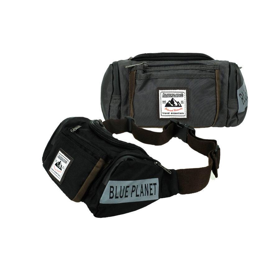 BLUE PLANET กระเป๋าคาดอก คาดเอว รุ่น C001 มีให้เลือก2สี ได้แก้ สีดำ และ สีเทา