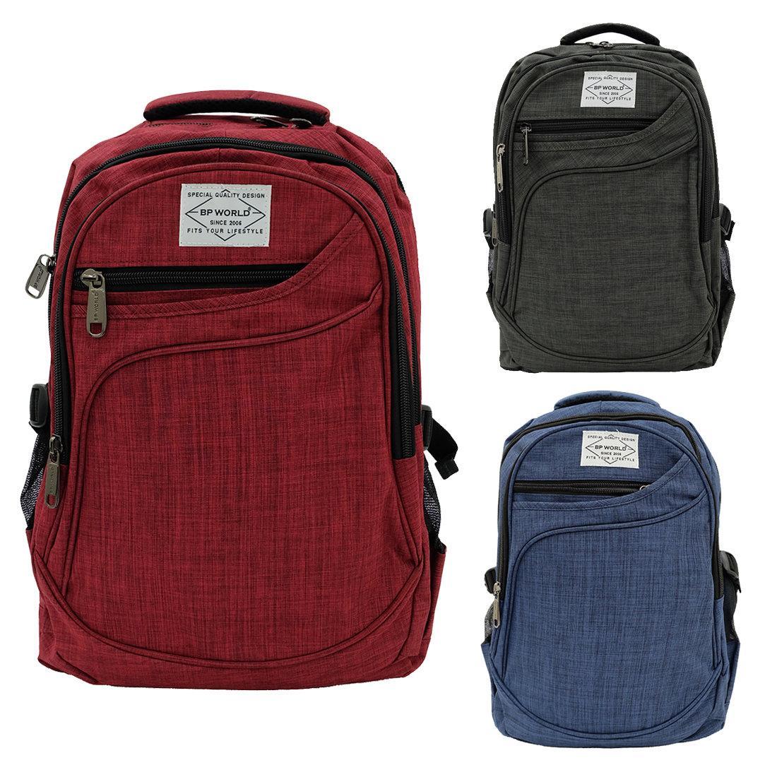 ฺBP WORLD กระเป๋าเป้ รุ่น P1006 มีให้เลือก3สี ได้แก่ สีเทาเข้ม,น้ำเงิน,แดง