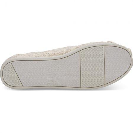 TOMS รองเท้าผู้หญิง รุ่น Natural Daisy Metalic Alpargata