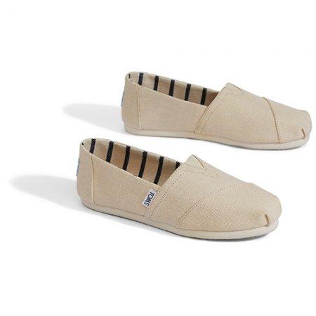TOMS รองเท้าผู้หญิง รุ่น ANTIQUE WHITE HERITAG CANVAS