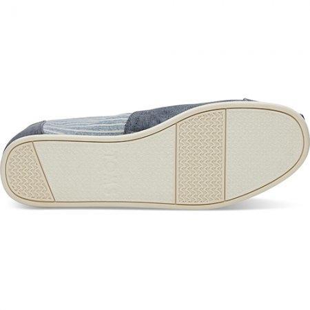 TOMS รองเท้าผู้ชาย รุ่น NAVY COTTON TWILL ETHNIC BLANKET STITCH