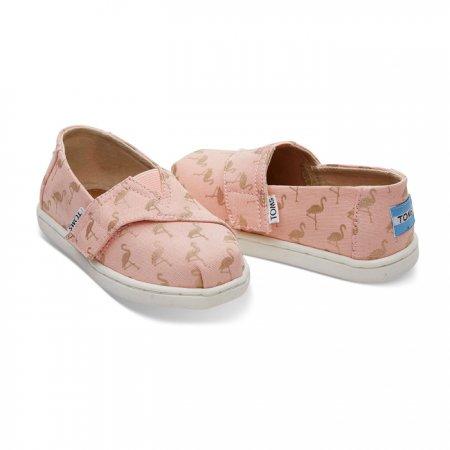 TOMS รองเท้าเด็กเล็ก  PALE PINK FLAMINGOS