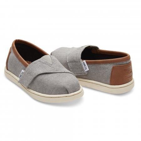 TOMS รองเท้าเด็กเล็ก GREY CHAMBAY