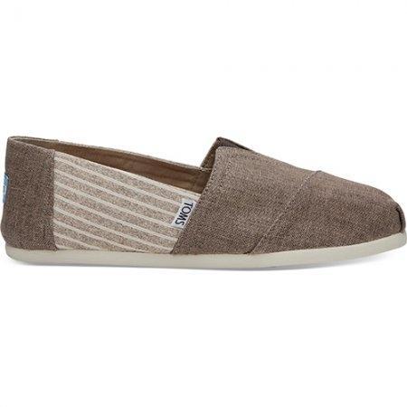 TOMS รองเท้าผู้ชาย รุ่น TOFFEE COATED LINEN STRIPE