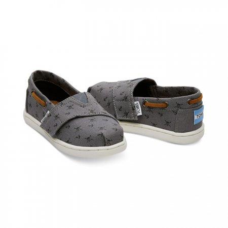 TOMS รองเท้าเด็กเล็ก STEEL GREY SKULLS
