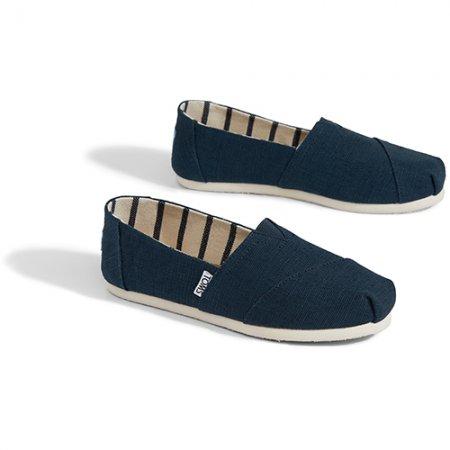 TOMS รองเท้าผู้หญิง รุ่น MAJOLICA BLUE HERITAGE CANVAS