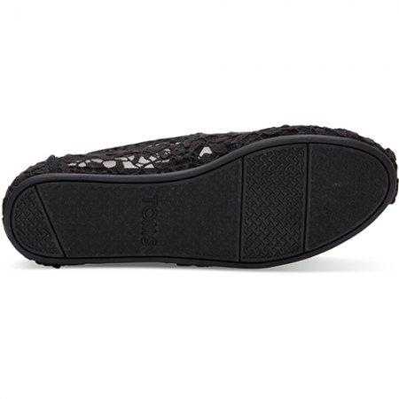 TOMS รองเท้าผู้หญิง รุ่น BLACK LACE LEAVES ALPARGATAS