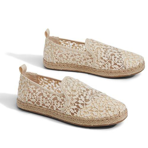 TOMS รองเท้าผู้หญิง รุ่น NATURAL LACE LEAVES DECONSTRUCTED