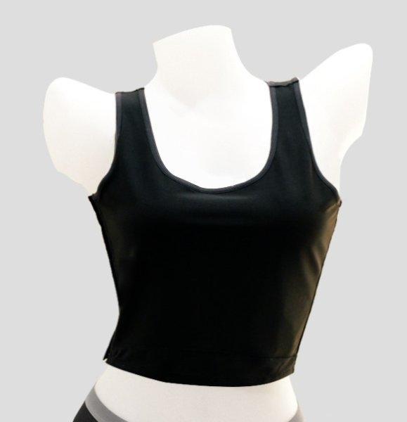 เสื้อกล้ามกระชับอก แบบครึ่งตัว ช่วยกระชับและพรางหน้าอกให้ดูเรียบเนียน : WX1501 สีดำ (BL)