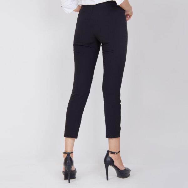 Jousse Pants กางเกงขายาว กางเกงสีดำ เอวสู ทรงเข้ารูปพอดีตัว JV2EBL
