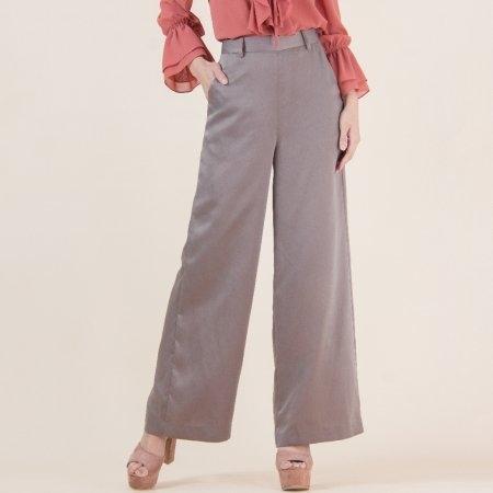 กางเกงขายาวผู้หญิง ผ้าซาติน สีแอชเกรย์ เรียบหรู ดูดี | Jousse JS1JDW