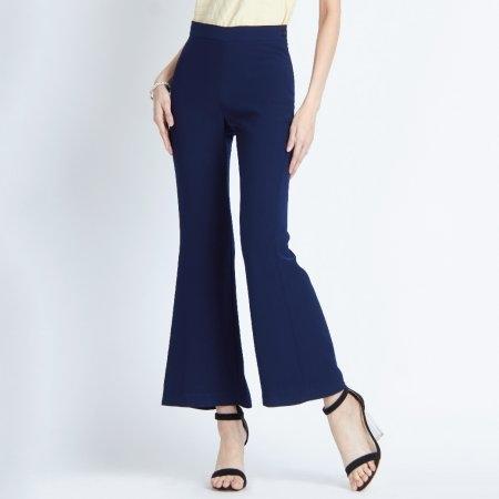 กางเกงทำงานผู้หญิงขายาว ทรงขาม้า สีกรมเรียบหรูดูแพง | Jousse JR5CNV