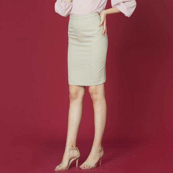 Jousse Skirt กระโปรงทำงานทรงสอบเข้ารูป สีเบจ  JV1FBE