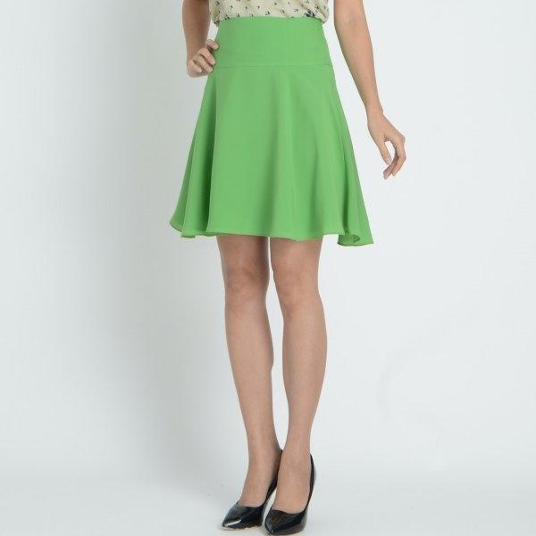 Jousse Skirt กระโปรงผู้หญิง สีเขียว จับจีบเก็บทรงสวย J77EGR