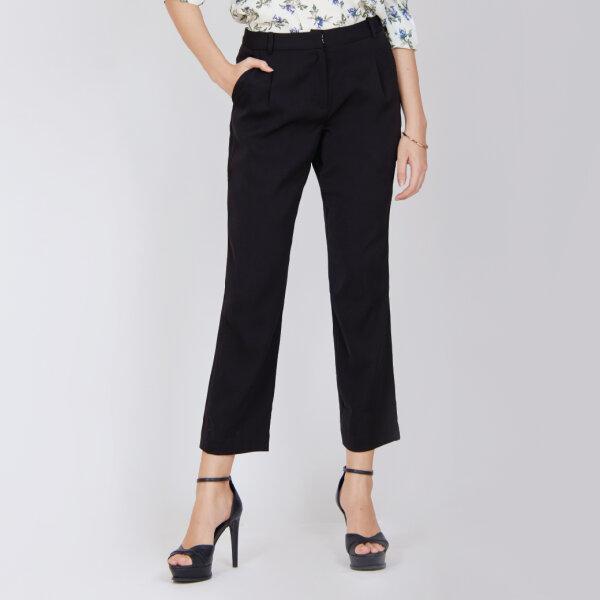 Jousse Pants กางเกงทำงานสีดำ ทรงเบสิค กระชับสะโพกเก็บทรงสวย JUK8BL