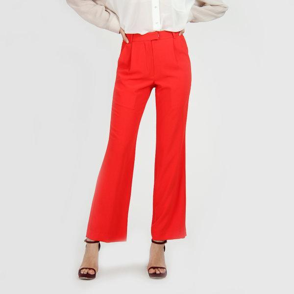 Jousse Pants กางเกงขายาว กางเกงทำงานขายาว สีแดง เอวสูง JU1LRE