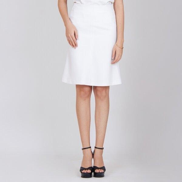Jousse Skirt กระโปรงทรงเอ สีขาว ความยาวสุภาพ JV28WH