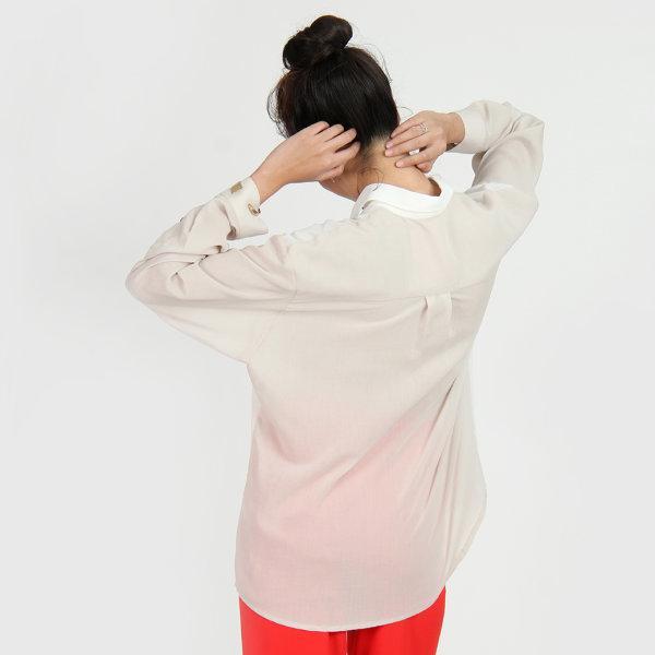Jousse Shirt เสื้อเชิ้ตสีขาว ทรงโอเวอร์ไซส์ JU27WH