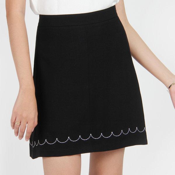 Jousse Skirt กระโปรงทำงาน สีดำ ทรงเอ ซิปข้าง