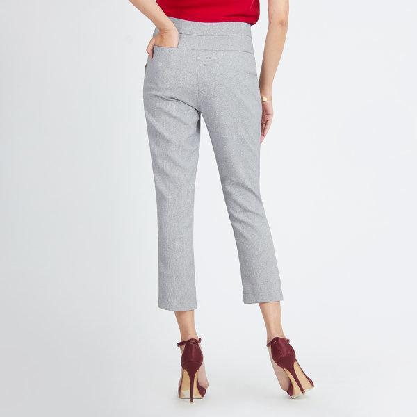 Jousse Pants กางเกงขายาวสีเทาเข้ม ทรงกระบอกเข้ารูป