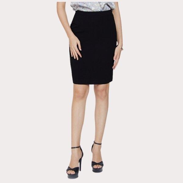 Jousse Skirt กระโปรงทำงานสีดำ ทรงสอบเข้ารูป ความยาวสุภาพ JL6PBL
